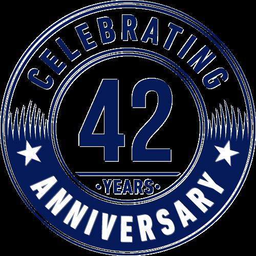 42 years logo